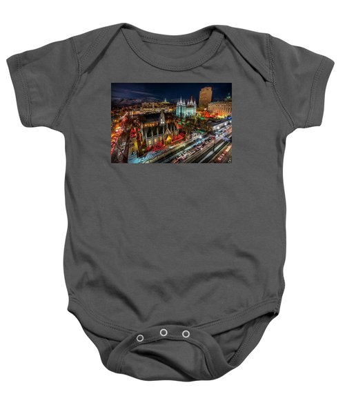 Temple Square Lights Baby Onesie