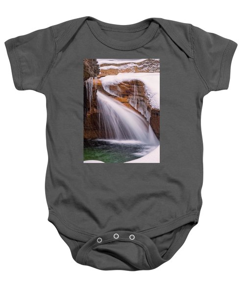 The Basin, Close Up In A Winter Storm Baby Onesie