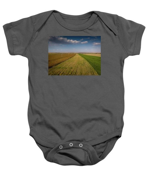 The Colored Fields Baby Onesie