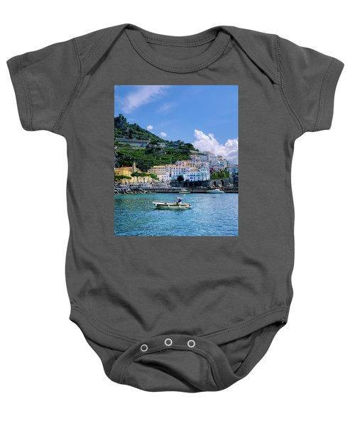 The Colorful Amalfi Coast  Baby Onesie