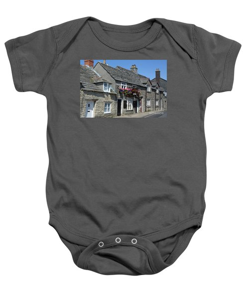 The Fox Inn At Corfe Castle Baby Onesie
