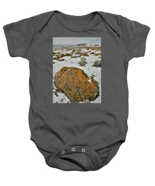 The Lichen Covered Boulders Of The Book Cliffs Baby Onesie