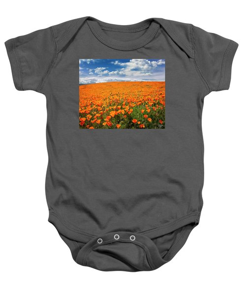 The Poppy Field Baby Onesie