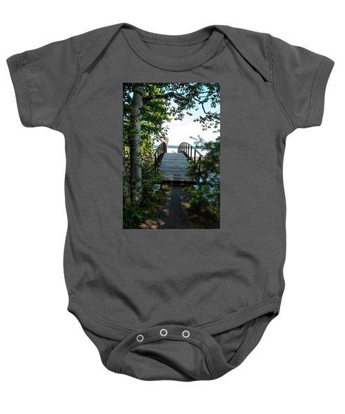 The Rock River Foot Bridge Baby Onesie