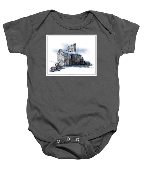 The Ross Elevator Winter Baby Onesie