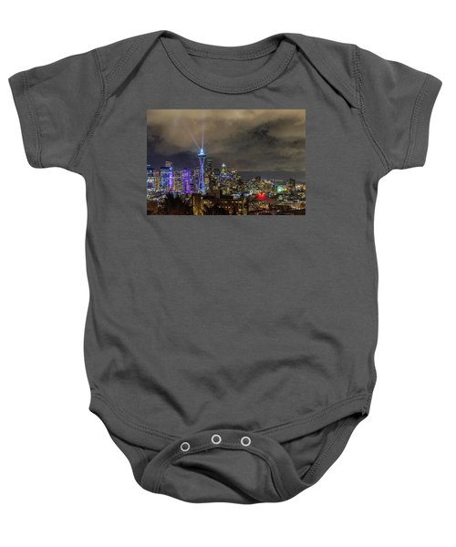The Star Of Seattle Baby Onesie