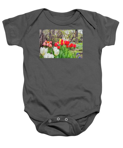 The Tulips Are Out. Baby Onesie