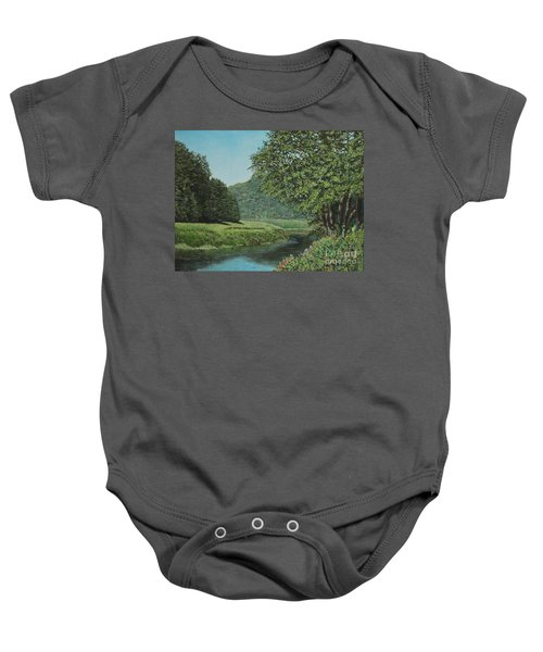 The Wye River Of Wales Baby Onesie