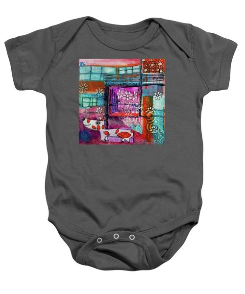 Thinking Happy Thoughts Baby Onesie