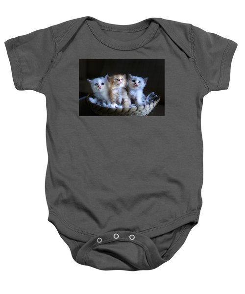 Three Little Kitties Baby Onesie