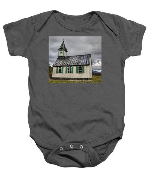 Tiny Church Of Iceland Baby Onesie