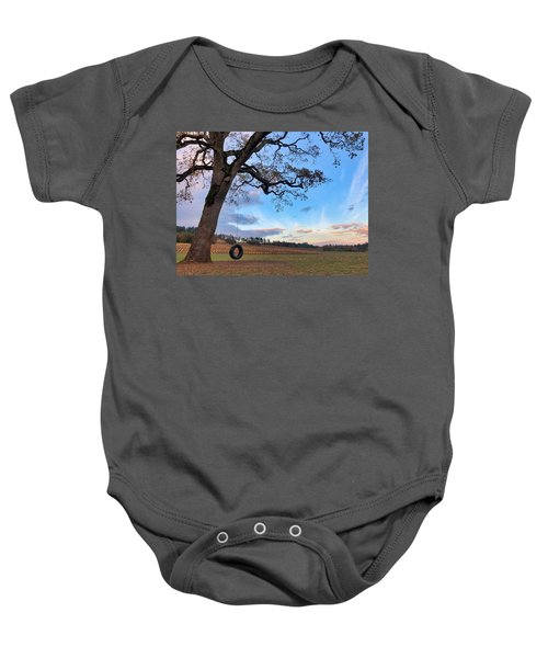 Tire Swing Tree Baby Onesie