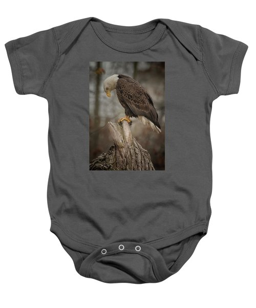 Tired Eagle Dad  Baby Onesie