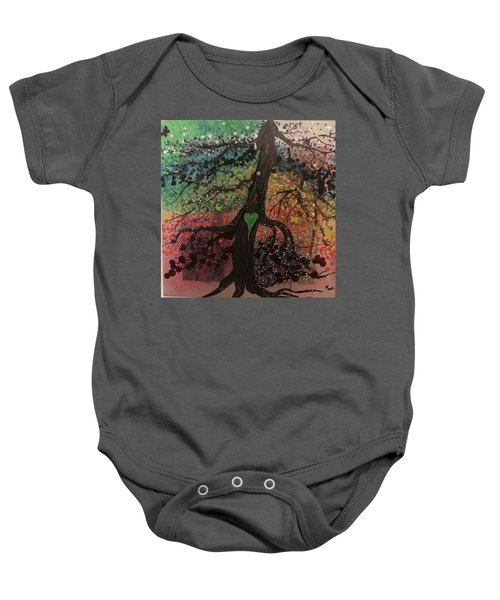 Tree Of Life Chakra Tree Baby Onesie