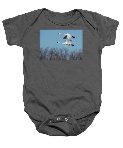 Tundra Swan Duo Baby Onesie