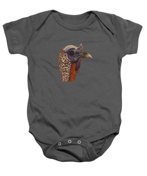Turkey Bird Portrait Baby Onesie
