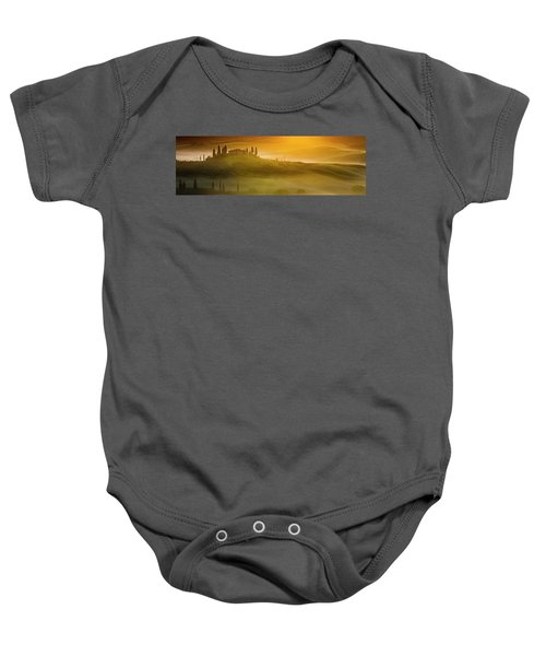 Tuscany In Gold Baby Onesie