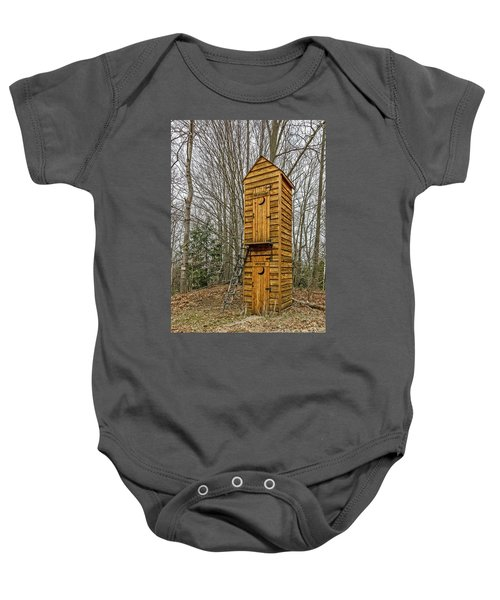 Two-story Outhouse For Voters And Politicians Baby Onesie