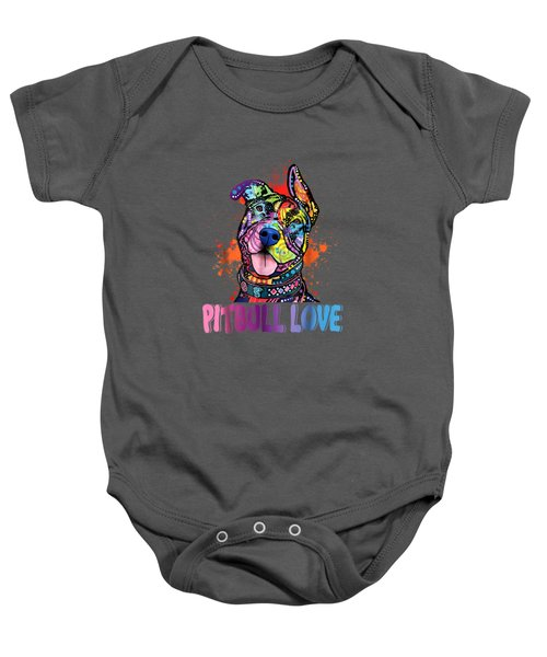 Unisex Colorful Pitbull Dog Tee Funny Pit Bulls Shirt Baby Onesie