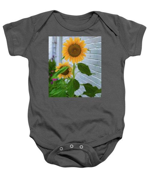 Urban Sunflower Baby Onesie