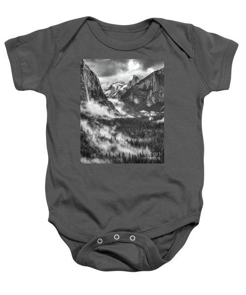 Baby Onesie featuring the photograph Valley Mist by Vincent Bonafede