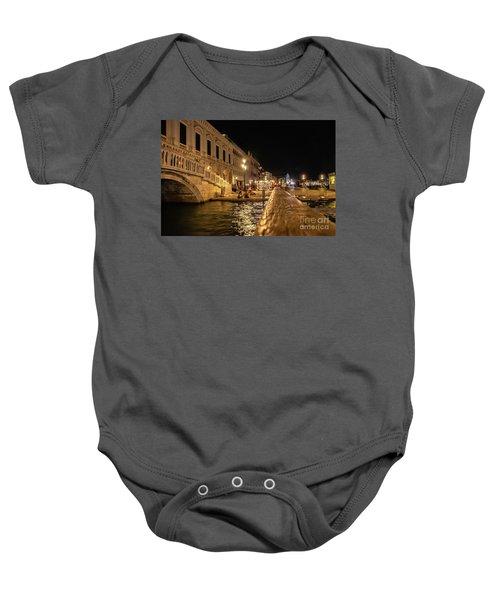 Venice At Night. San Marco Baby Onesie