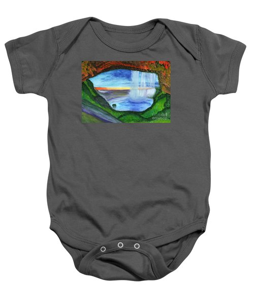 View From The Cave To The Waterfall Baby Onesie