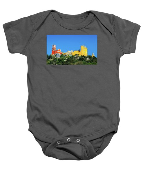 View Of Pena National Palace, Sintra, Portugal, Europe Baby Onesie