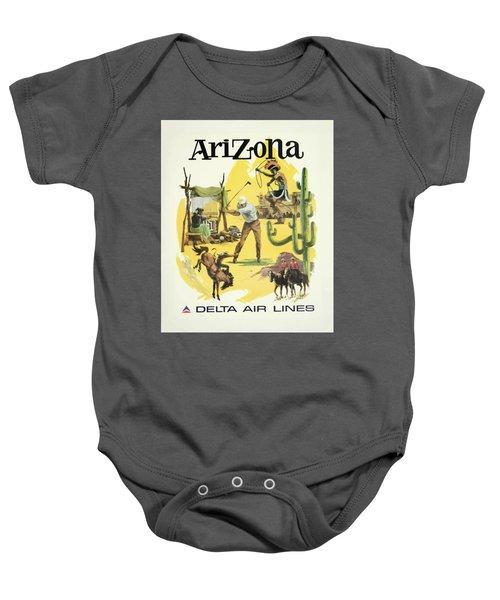 Vintage Travel Poster - Arizona Baby Onesie