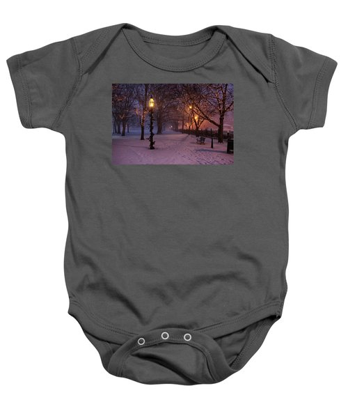 Walking The Path On Salem Ma Common Baby Onesie