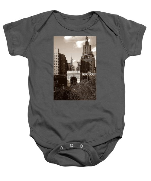 Washington Arch And New York University - Vintage Photo Art Baby Onesie