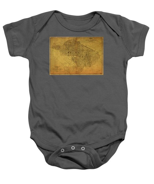 Washington Dc Vintage City Street Map Sewers 1885 Baby Onesie