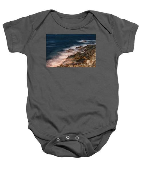 Waves And Rocks At Sozopol Town Baby Onesie