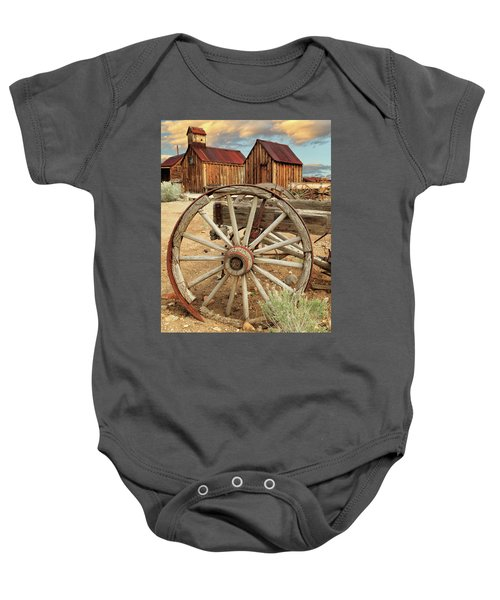 Wheels And Spokes In Color Baby Onesie