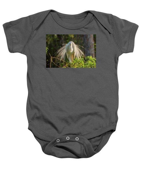 White Egret Baby Onesie