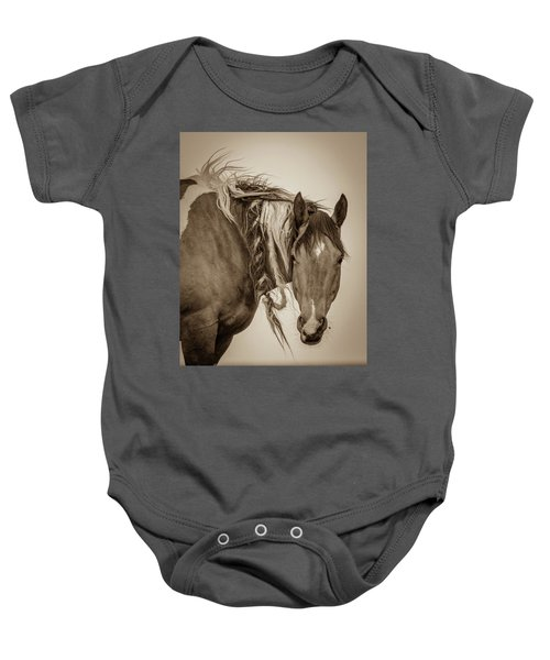 Baby Onesie featuring the photograph Wild Braids by Mary Hone