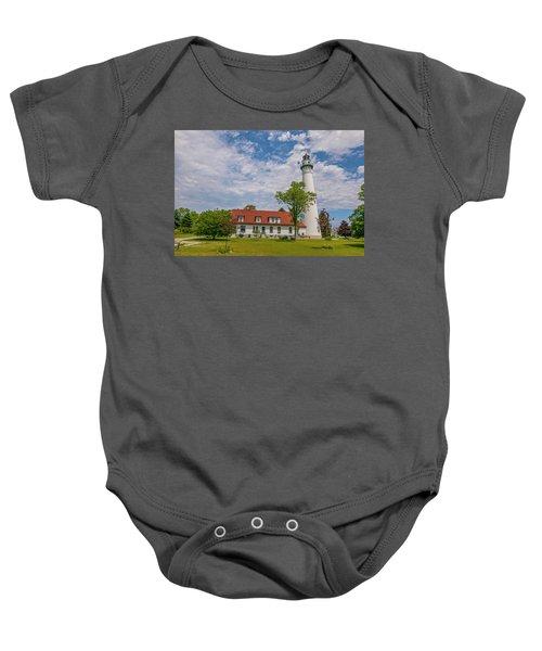 Wind Point Lighthouse  Baby Onesie