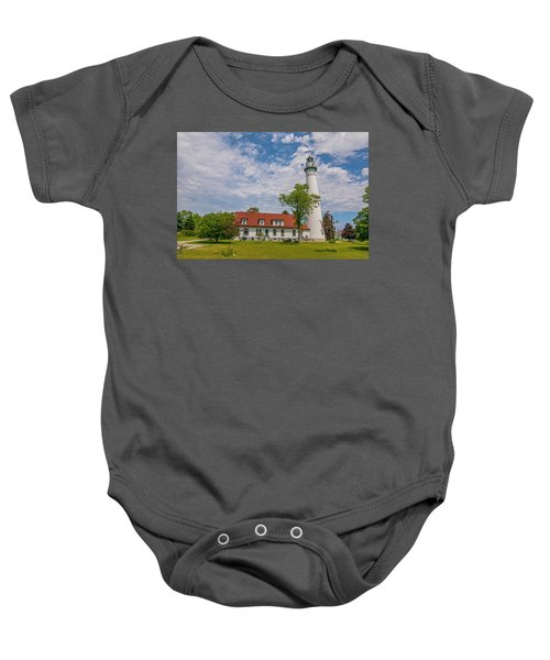 Wind Point Lighthouse  Baby Onesie