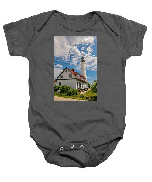 Wind Point Lighthouse No. 2 Baby Onesie
