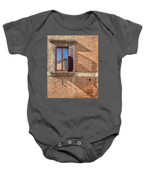Window Shutter Shadow Of Tuscany Baby Onesie