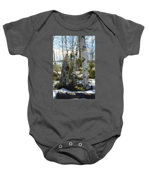 Winter Birch Baby Onesie