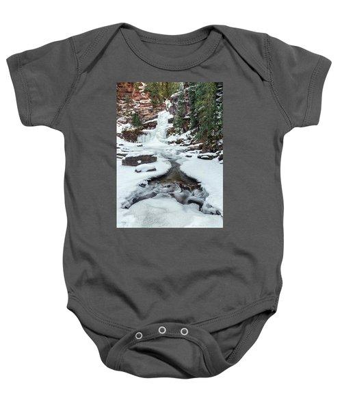 Winter Falls Baby Onesie