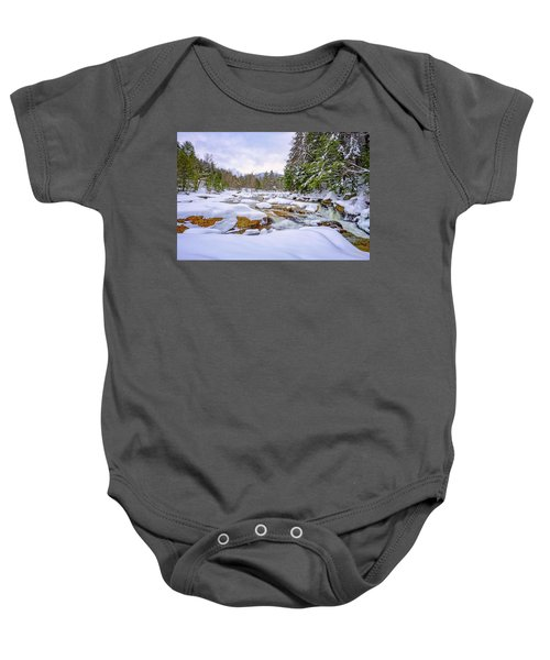 Winter On The Swift River. Baby Onesie