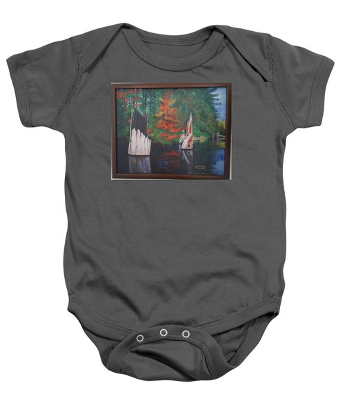 Wolf Lake On Vancouver Island  Baby Onesie