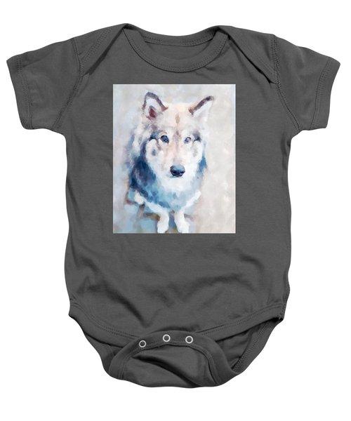 Wolfdog Baby Onesie
