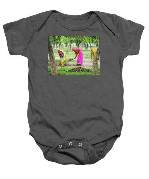 Woman In The Garden Baby Onesie