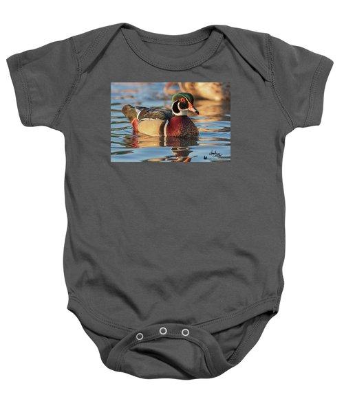 Wood Duck 4 Baby Onesie