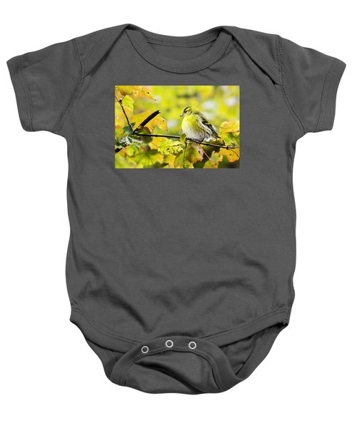 Yellow Bird Baby Onesie