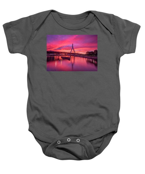 Zakim Bridge Sunset Baby Onesie