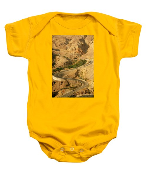 Road From The Dead Sea Panorama Baby Onesie